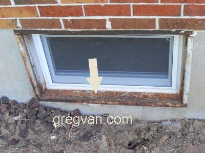 metal window frame rusting