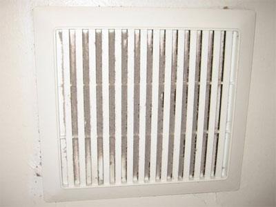 Dust Clogging Bath Fan Vent