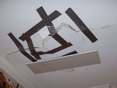 Temporary Ceiling Repair