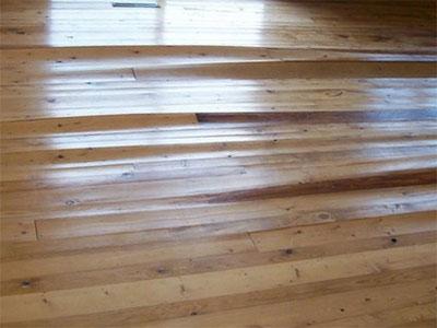 Water Damaged Wood Floor