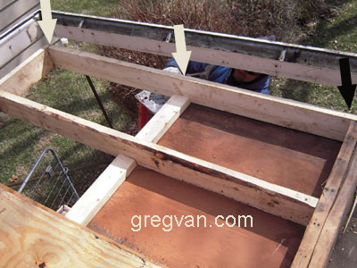 Poor Cantilever Roof Framing