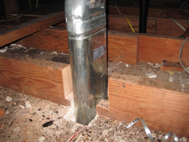 Cut Ceiling Joist For Heater Ven