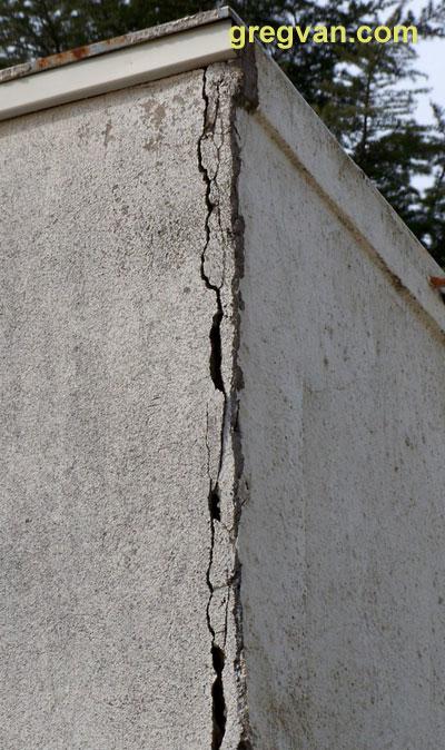 Damaged Stucco Corner