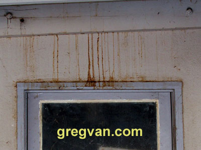 Stucco Stain From Roof Leak