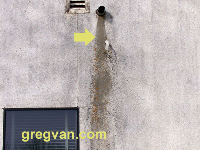Roof Drain Stain On Stucco