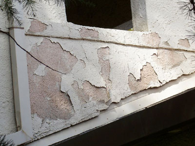 Stucco Paint Water Damage